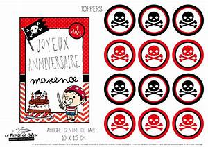 Deco Anniversaire Pirate : d coration de table kit imprimable anniversaire th me pirate ~ Melissatoandfro.com Idées de Décoration
