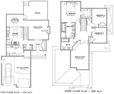 floor plans for two homes modern house plans two floors thefloors co