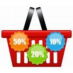 Shopping Basket Clip Discount Clipart Icons Transparent