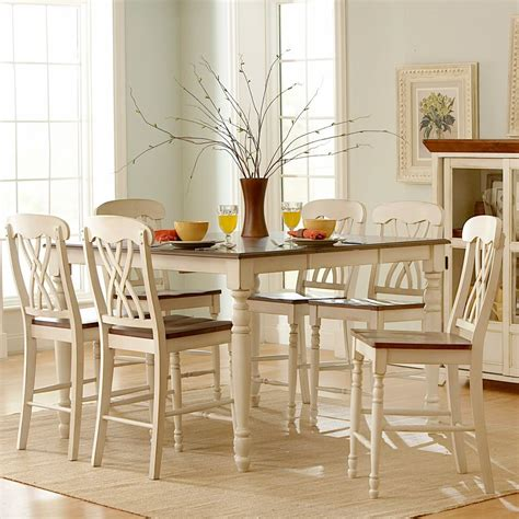 white kitchen set furniture oxford creek 7pcs antique white counter height set home