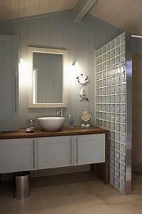 salle de bain douche italienne carreau de verre chaioscom With carreau de verre salle de bain