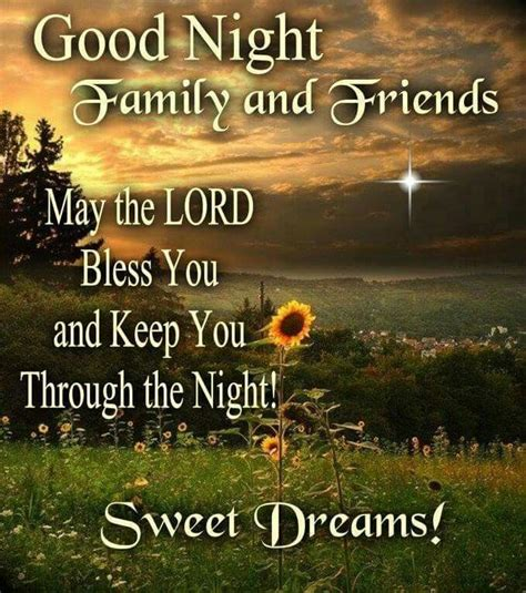 goodnight family  friends sweet dreams pictures