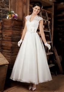 ankle length wedding dress 2012 ankle length wedding dress with lace cap straps prlog