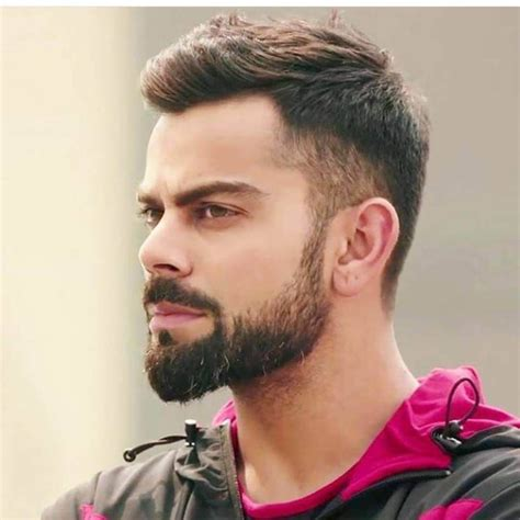 virat kohli hairstyle indian beard style hair images