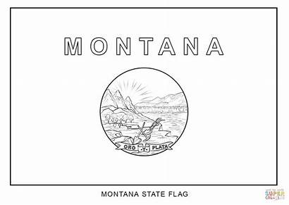 Montana Coloring Flag Pages State Symbols Seal