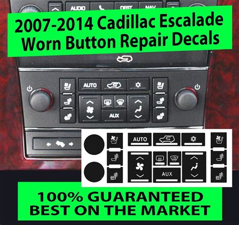 automotive air conditioning repair 2007 cadillac cts interior lighting cadillac escalade ac button replacement decals set heated seats climate control ebay