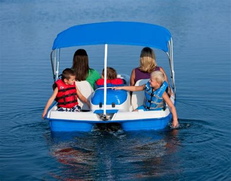 Sun Dolphin Paddle Boat With Canopy by Sun Dolphin Water Wheeler Electric Asl 5 Person Pedal Boat