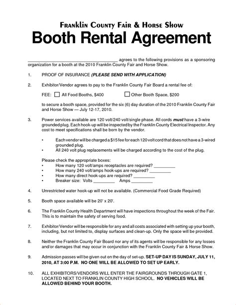 3 salon booth rental agreementreport template document