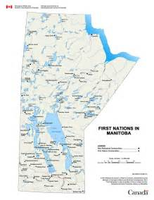 Manitoba First Nations Map