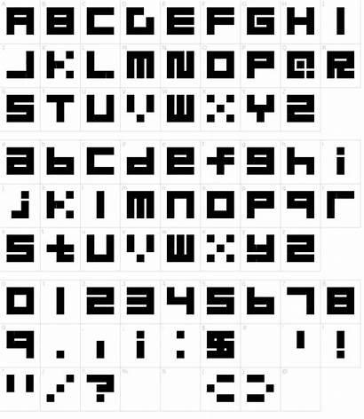 Font Block Fonts Character