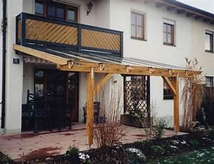 Leistungen zimmerei holz glas for Terrassenüberdachung mit balkon