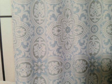 dusty blue blue grey and fabric shower curtains on