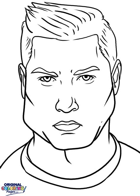 Kleurplaat Ronalda by Christiano Ronaldo Coloring Page Coloring Pages
