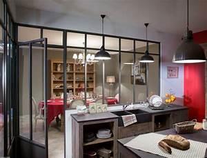 deco cuisine avec verriere With cuisine style atelier artiste