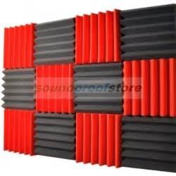 2x12x12 12 pack charcoal acoustic wedge soundproofing studio foam tiles