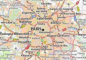 Map of Paris Michelin Paris map ViaMichelin
