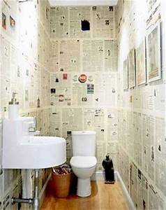 Papier Peint Pour Wc : 10 fa ons d 39 arranger la d co de ses wc deco cool ~ Nature-et-papiers.com Idées de Décoration