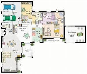 les 25 meilleures idees concernant plan maison plain pied With good plan de maison 150m2 6 couleur maison construction plan de maison de plain pied