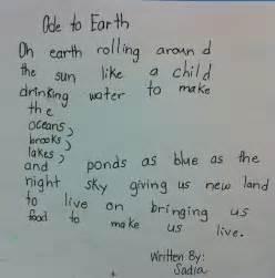 Ode Poem Examples Kids