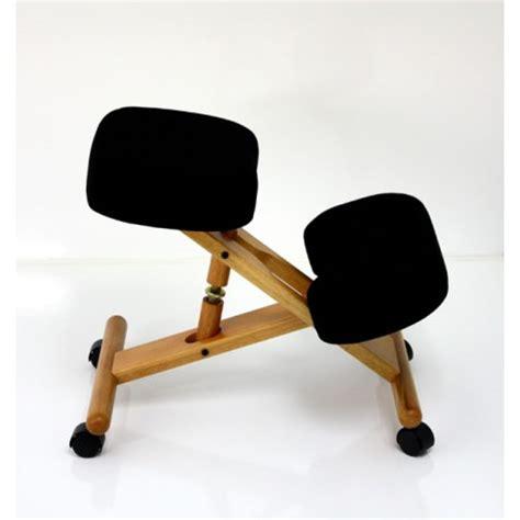 siege assis genoux bois naturel ou laqu 233 noir