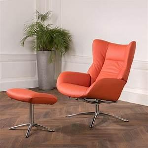 Repose Pied Design : fauteuil design vintage avec repose pieds stockholm fauteuil relax ~ Teatrodelosmanantiales.com Idées de Décoration