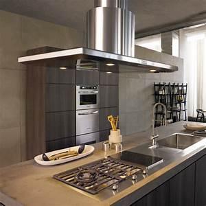 Hotte ilot pratique et convivial pour une cuisine moderne for Hotte de cuisine centrale