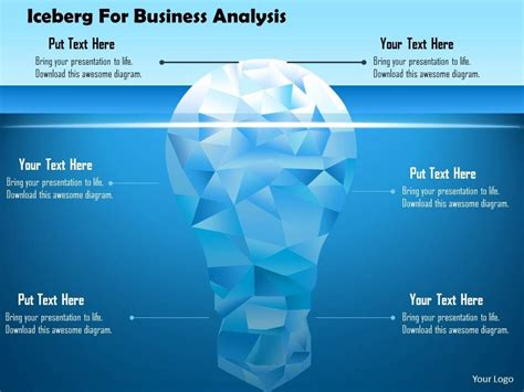 iceberg  business analysis powerpoint template