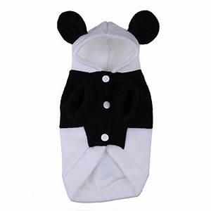 Vakind Panda Form Kaputzenpulli Haustier Winter Bekleidung