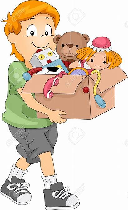 Toys Clipart Boy Clean Cleaning Clip Picking