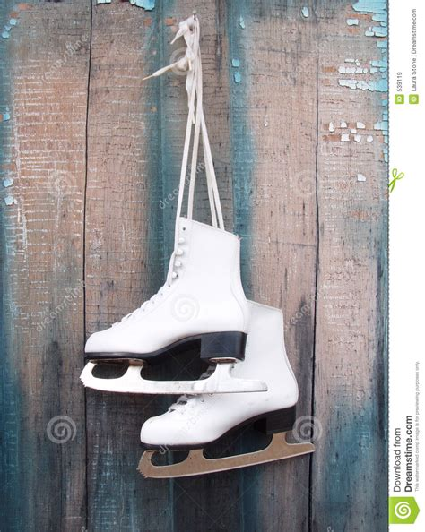 hanging photos ice skates stock image image of blade rustic holiday 539119