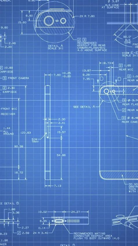 apple iphone  blueprint wallpaper