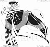 Matador Cape Clipart Illustration Woodcut Vector Royalty Xunantunich sketch template