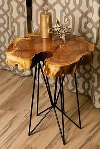 best 25 wood slab table ideas on pinterest live edge With rustic wood slab coffee table