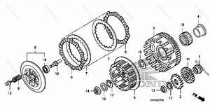 Honda Atv 2007 Oem Parts Diagram For Clutch