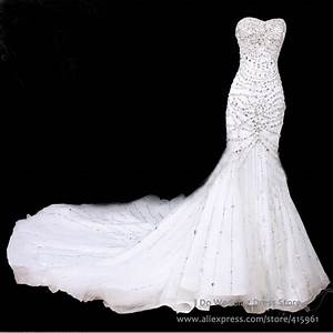 Luxury Sweetheart Crystal Mermaid Wedding Dresses ...