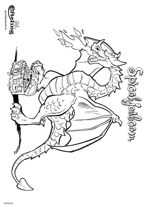 Efteling Kleurplaat Draak by Kleurplaat Sprookjesboom Efteling Draak Bewaakt Zijn