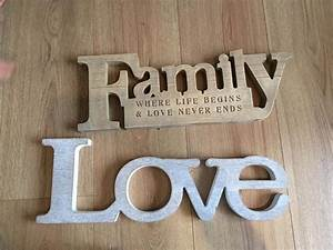 Home, Decor, Wooden, Signs, Love, Family, In, N9, Enfield, For, U00a35, 00, For, Sale