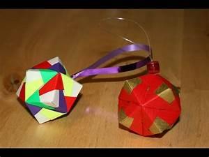 Origami Boule De Noel : origami boule de no l christmas ornament senbazuru ~ Farleysfitness.com Idées de Décoration