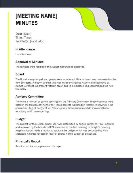 meeting minutes simple