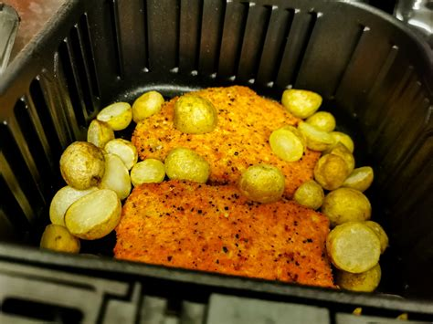fryer air cosori potatoes mini pork steaks