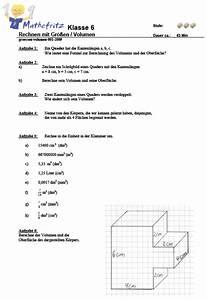 Terme Berechnen Klasse 5 : aufgaben volumen quader w erfel matheaufgaben klasse 6 ~ Themetempest.com Abrechnung
