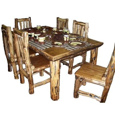 rustic kitchen furniture rustic kitchen table set country log cabin wood