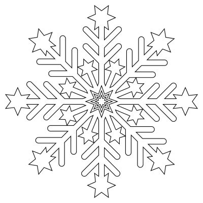 snowflake templates printable stencils  patterns