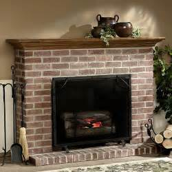 The Brick Electric Fireplace by Traditional Brick Fireplace Brick Built Fireplaces Red