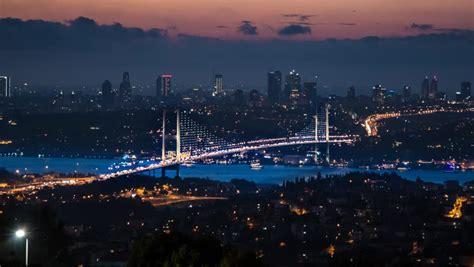 istanbul bosporus bridge  sunset stock footage video