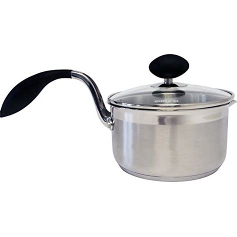 lightweight elderly stick seniors cookware saucepan qt stainless non steel pain lid covered arthritis ergonomic 2355 less