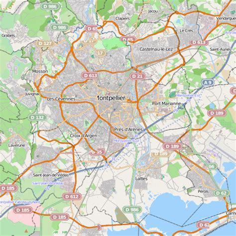 Carte Sud Montpellier by Carte De Montpellier