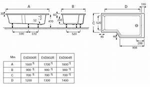 Baignoire Douche Dimension : ensemble baignoire bain douche neo 160 x 90 70 acrylique ~ Premium-room.com Idées de Décoration