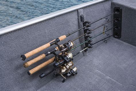 Fishing Rod Holders For Bass Boats by Port Side Rod Holders W Organizer For 4 Rods To 7 2 13 M