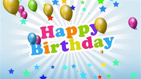 motion graphics animation  happy birthday background